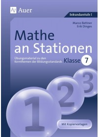 Obálka knihy  Mathe an Stationen 7 od Dinges Erik, ISBN:  9783403064183